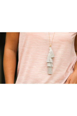 Layers of Tassel Necklace