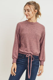 Balloon Sleeve Brushed Knit Top Mauve Boho Pretty Boutique Online Shop Fall Winter Fashion.10