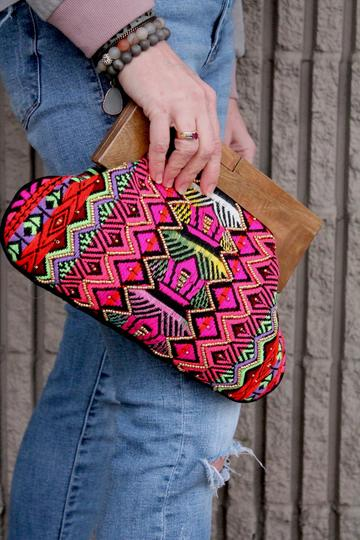 Bohemian Embroidered Clutch
