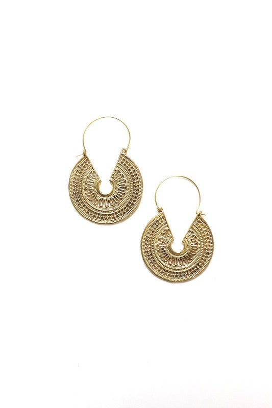 Boho Brass Earrings - bohopretty.com