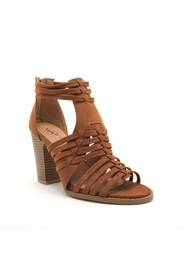 Cadence Strappy High Heeled Sandal - bohopretty.com
