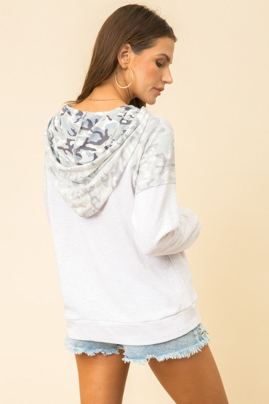 camo hoodie hem and thread boho pretty boutique