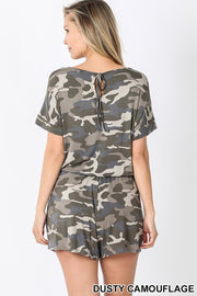 Camo, Short Sleeve, Romper, Summer, Clothing, Fashion, Boutique, Boho Pretty,