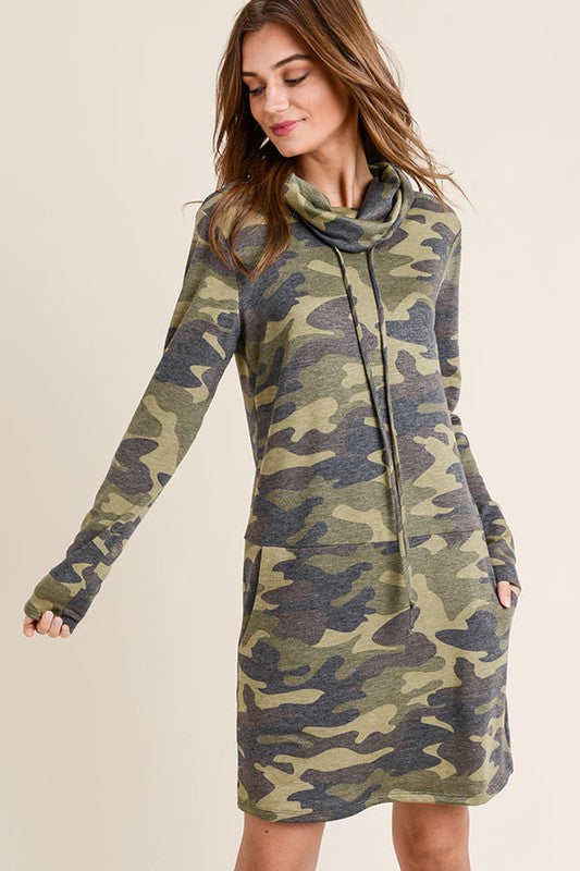 Casual Camo Dress - bohopretty.com