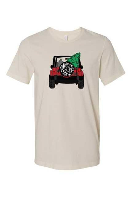 Christmas Jeep Tee, Graphic, Fashion, Trendy, Boho Pretty