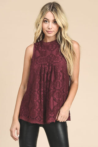 Christmas Lace Top