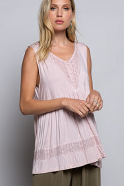 Eyelet Embroidered Babydoll Top