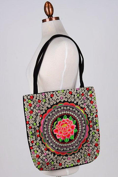 Bohemian Flower Bag - bohopretty.com