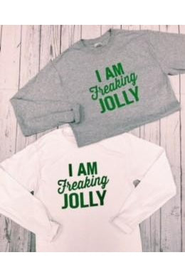 Freaking Jolly Tee, Graphic, Long Sleeve, Boho Pretty