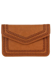 Solid Stitched Flap Over Envelope Clutch