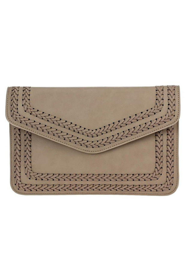 Stitched Flap Over Envelope Clutch