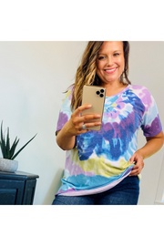 Hang With Me Tie Dye Knit Top