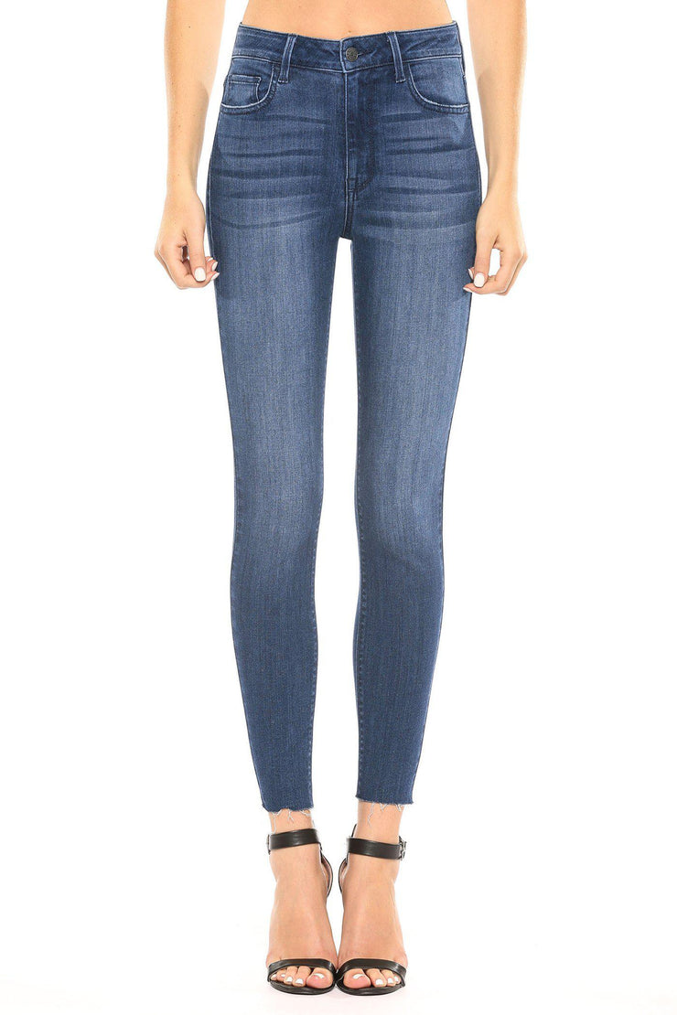 high rise straight ankle skinny boho pretty boutique