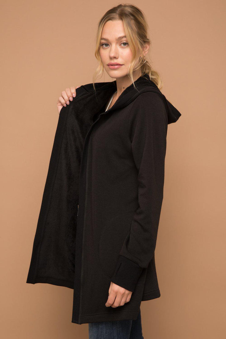 Fleece Lined Hooded Cardigan.  A perfect staple piece !
