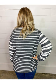 IMG_0350multi grey stripes with balloon sleeves boho pretty boutique online womens clothing