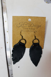 Double Loop Feather Earring