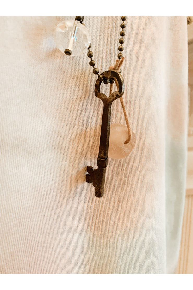 key necklace boho pretty boutique