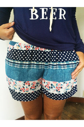 Mixed Pattern Shorts