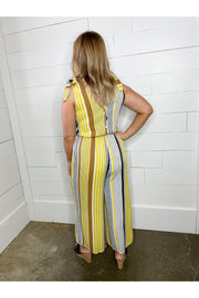 mustard stripe shoulder tie jumpsuit boho pretty boutique online womens clothing