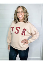 Usa pink burgundy graphic sweatshirt boho pretty online boutique