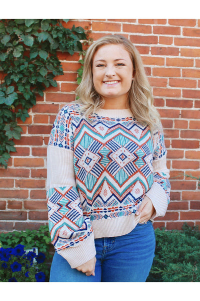 Boho Aztec Sweater - bohopretty.com