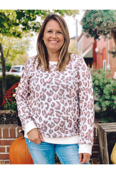 Casual Leopard Print Top - bohopretty.com