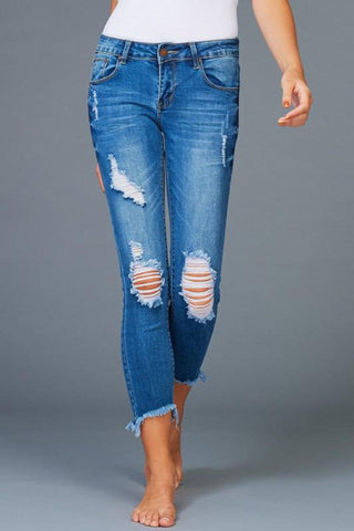 Huckleberry Distressed Denim Pants