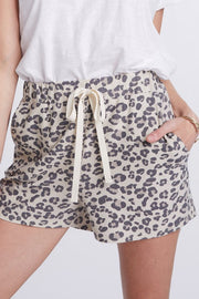 Leopard Print French Terry Shorts