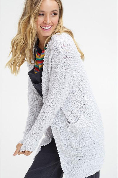 Popcorn Sweater, Cardigan, Comfy Chic, Boho Pretty