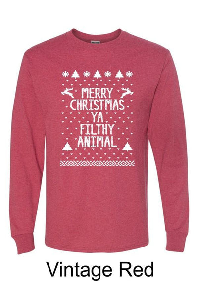 Merry Christmas Ya Filthy Animal Tee, Graphic, Trendy, Boho Pretty