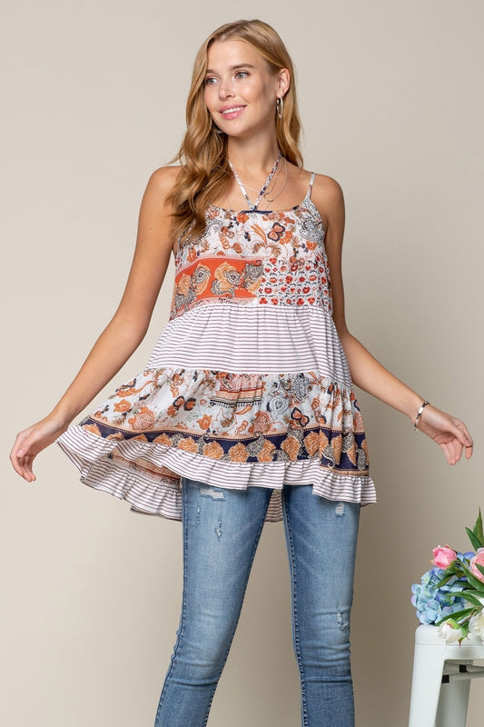Mixed and Match Print Tunic, Boho Pretty
