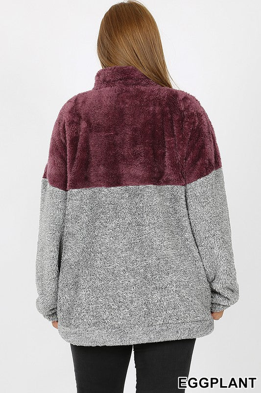 Color Block Sherpa
