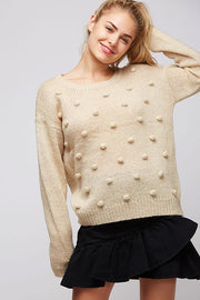 Pom Pom Sweater, Ivory, Fashion, Trendy, Boho Pretty