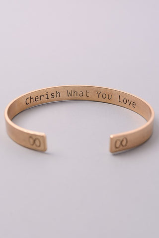 Cherish What You Love Bracelet