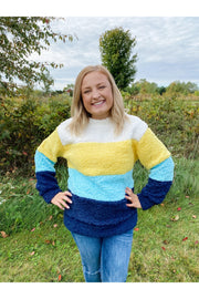 Rainbow Days Sherpa Pullover
