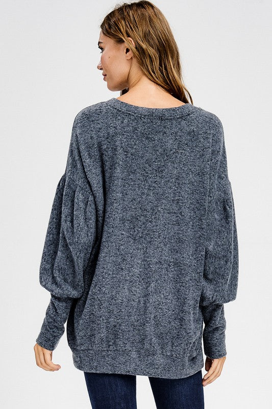 Sing A Love Song Top, Charcoal, Fashion, Trendy, Boho Pretty