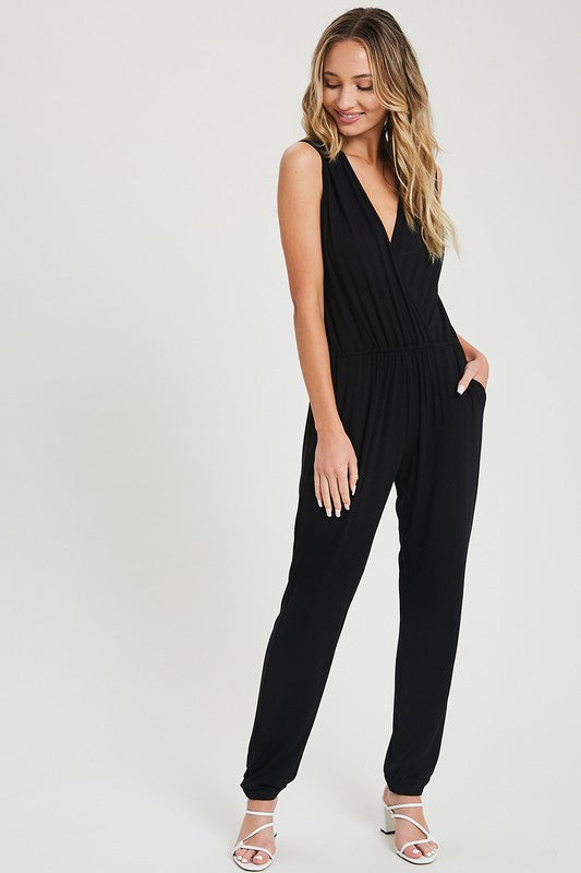 Jumpsuit, Comfy, Casual, Knit, Sleevelss, V-Neck, Pockets, Boho Chic, Boho Pretty