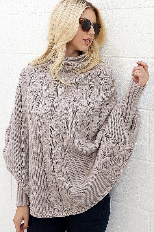 Sleigh Ride Sweater, Knitted, Cape Style, Fashion, Boho Pretty