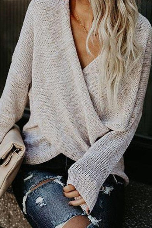 Snowy Days Sweater, Criss Cross Drape, Knitted, Fashion, Boho Pretty