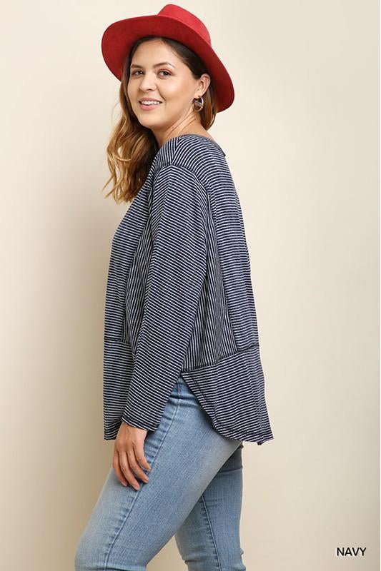 Stay Warm Top, Stripes, Fashion, Trendy, Plus Size, Boho Pretty