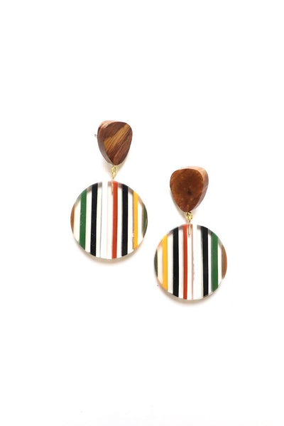 Striped Acrylic Earrings