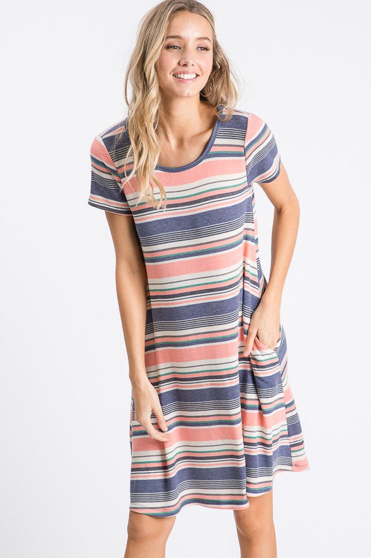 Striped, Shift Dress, Knit, Summer Dress, Boutique, Style, Outfit, Women's Clothing, Fashion, Boho Pretty.jpg