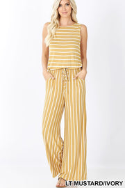 Stripes, Sleeveless, Jumpsuit, Pockets, Boho Pretty, Fashion, Boho Pretty, Mustard.jpg