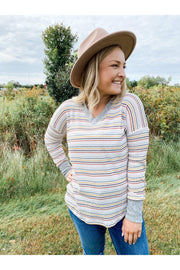 Riley V-Neck Long Sleeve Top