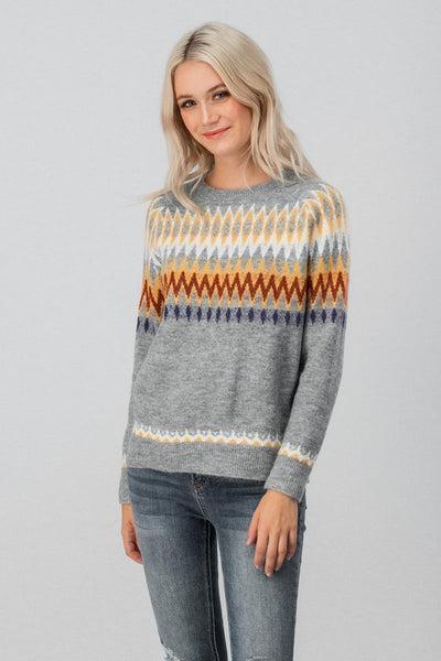 Geo Print Cozy Sweater