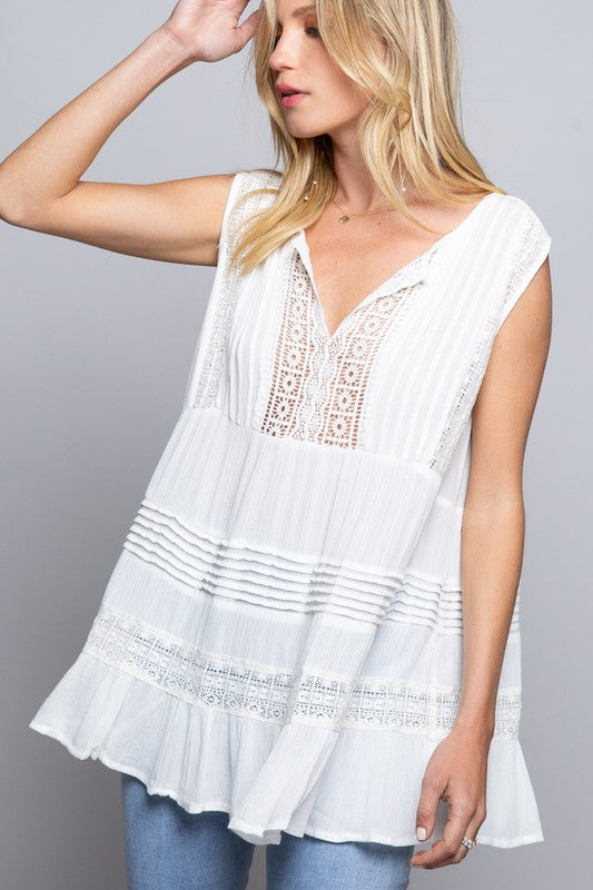 Sweet Bliss, Ivory, Crochet, Top. Womens Clothing, Style, fashion, boutique, boho pretty, back.jpg