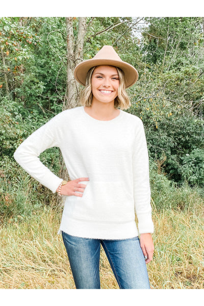 Ultra Soft Brushed Knit Pullover Ivory Sweater Soft Boho Pretty Boutique Online Shop Womens Clothing Fall Winter Fashion8