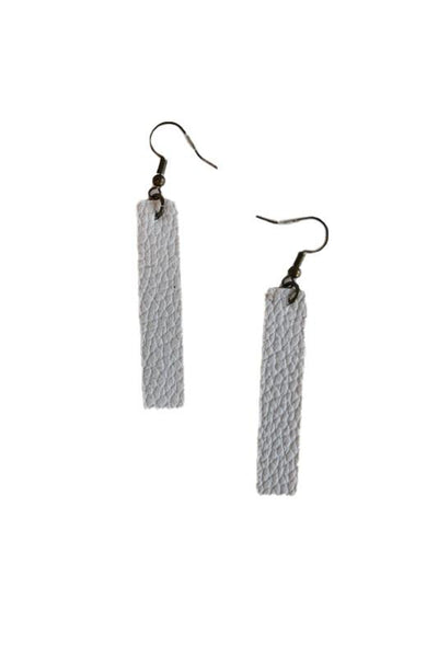 Rectangle Faux Leather Earrings
