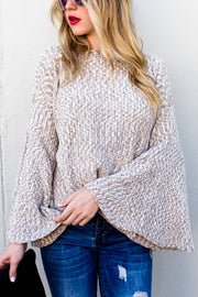 Wide Bell Sleeve Sweater
