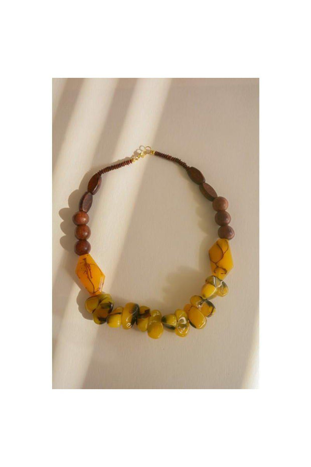 Chunky Amber Resin Necklace - bohopretty.com